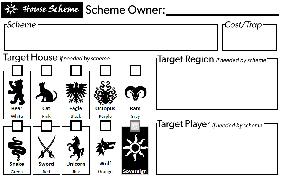Sample House Scheme Form