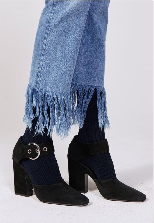 Crop Fringe Jeans