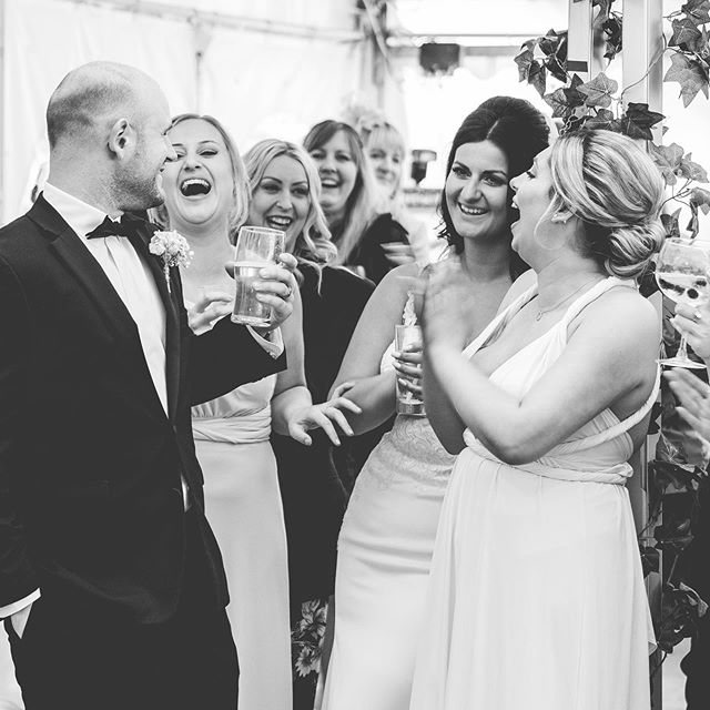 There's nothing better than a natural laugh at a wedding it promotes happiness and love throughout the day. #love #lovequotes #wedding #happiness #laugh #live #smile #friends #his #hers #mrandmrs #weddingday #sun #kiss #happy #behappy #enjoylife #enjoy #time #beyourself