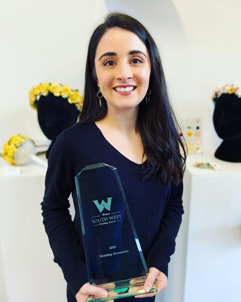 Winner of the South West Wedding Awards 2019 Wedding Accessories Category