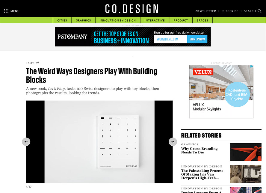 THANK YOU CO.DESIGN !   https://www.fastcodesign.com/3066060/the-weird-ways-designers-play-with-building-blocks