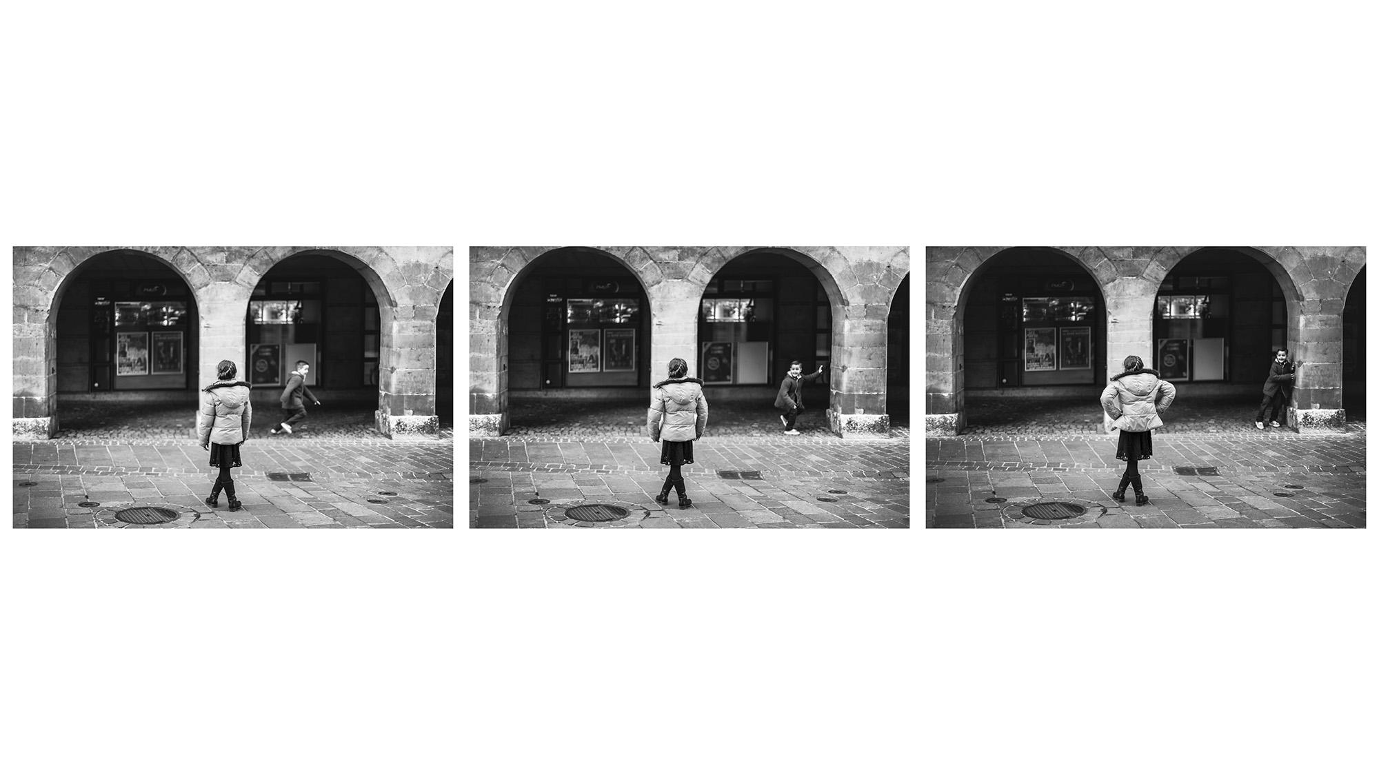"""Parfois, la séquence d'images parle plus que l'image seule, parce qu'elle entraîne avec elle l'idée de mouvement, de temporalité, et elle laisse au spectateur la liberté de combler ce qu'il y a entre les images. Dans des cas comme celui-ci où les prises de vue sont très rapprochées, un petit """"stop-motion"""" se crée dans l'imaginaire du spectateur. La question de la séquence d'images est très intéressante, et elle fera l'objet d'un prochain article qui traitera de la manière de """"présenter ses images""""."""