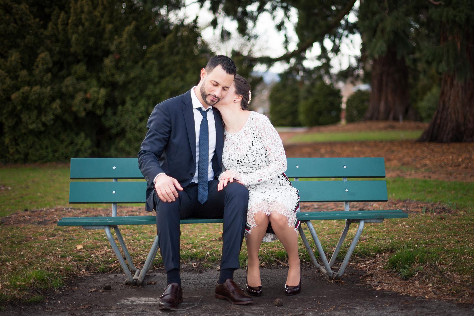 couple mariage banc wedding bride groom
