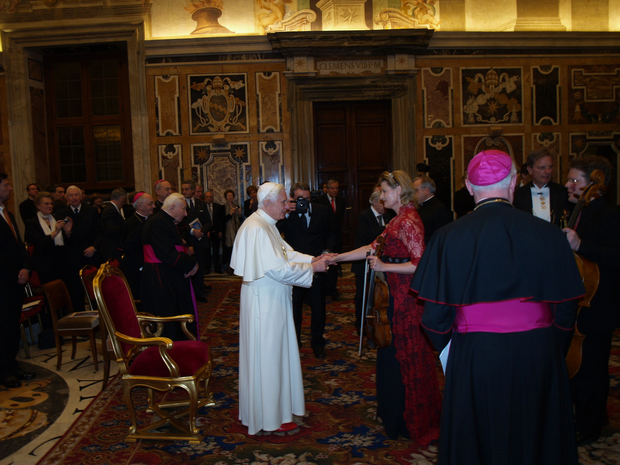 Concert for Pope Benedict XVI in the Vatican at Sala Clementina in honour of his nameday