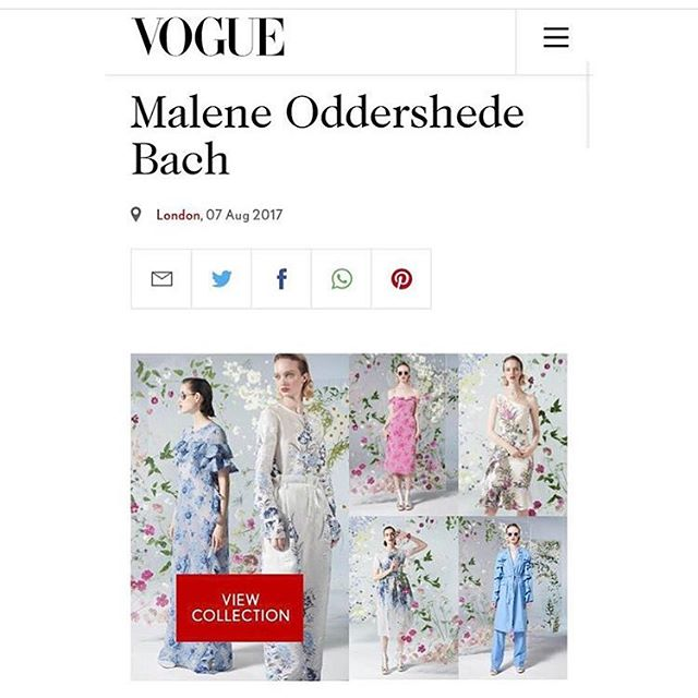 The new @maleneoddershedebach SS18 collection is now live on @britishvogue 🌸 dreamy pressed floral backdrops by us ✨✨ #stilllifeflowers #maleneoddershedebach #ss18 #vogue #pressedflowers #fashionflowers