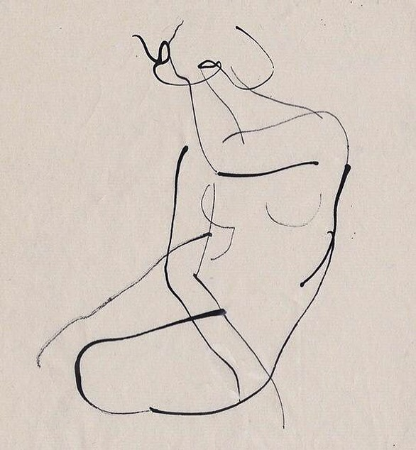 Gestural figure by Picasso. #negativespace #alysonmagee #architecture #designinspiration #influence #nature #design