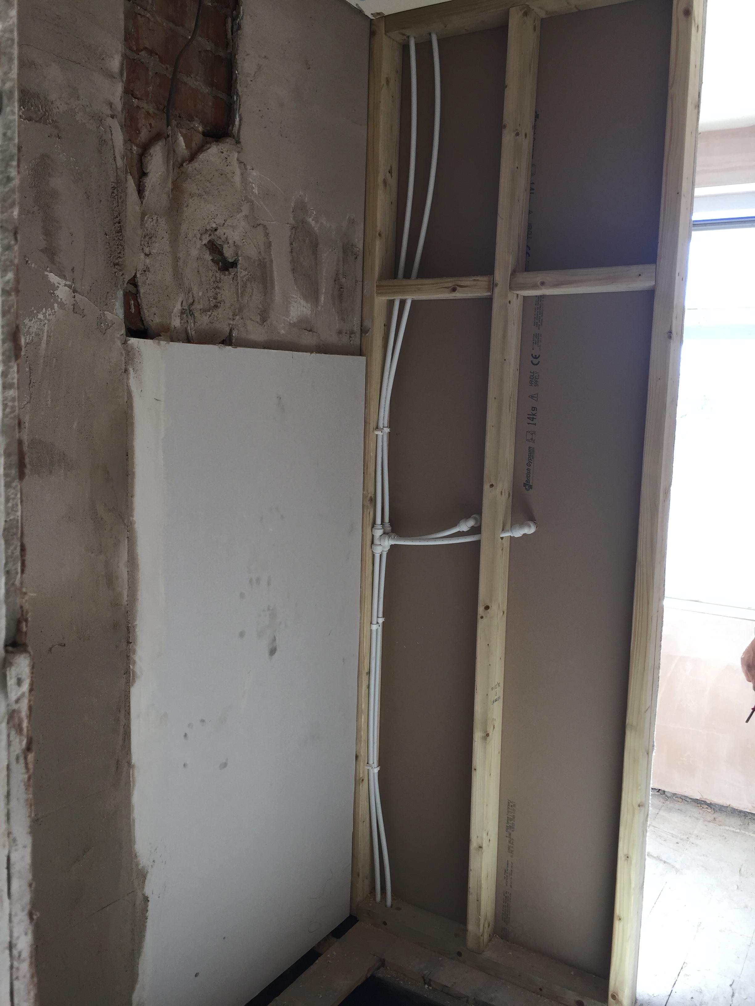 Remodelled room, new shower area