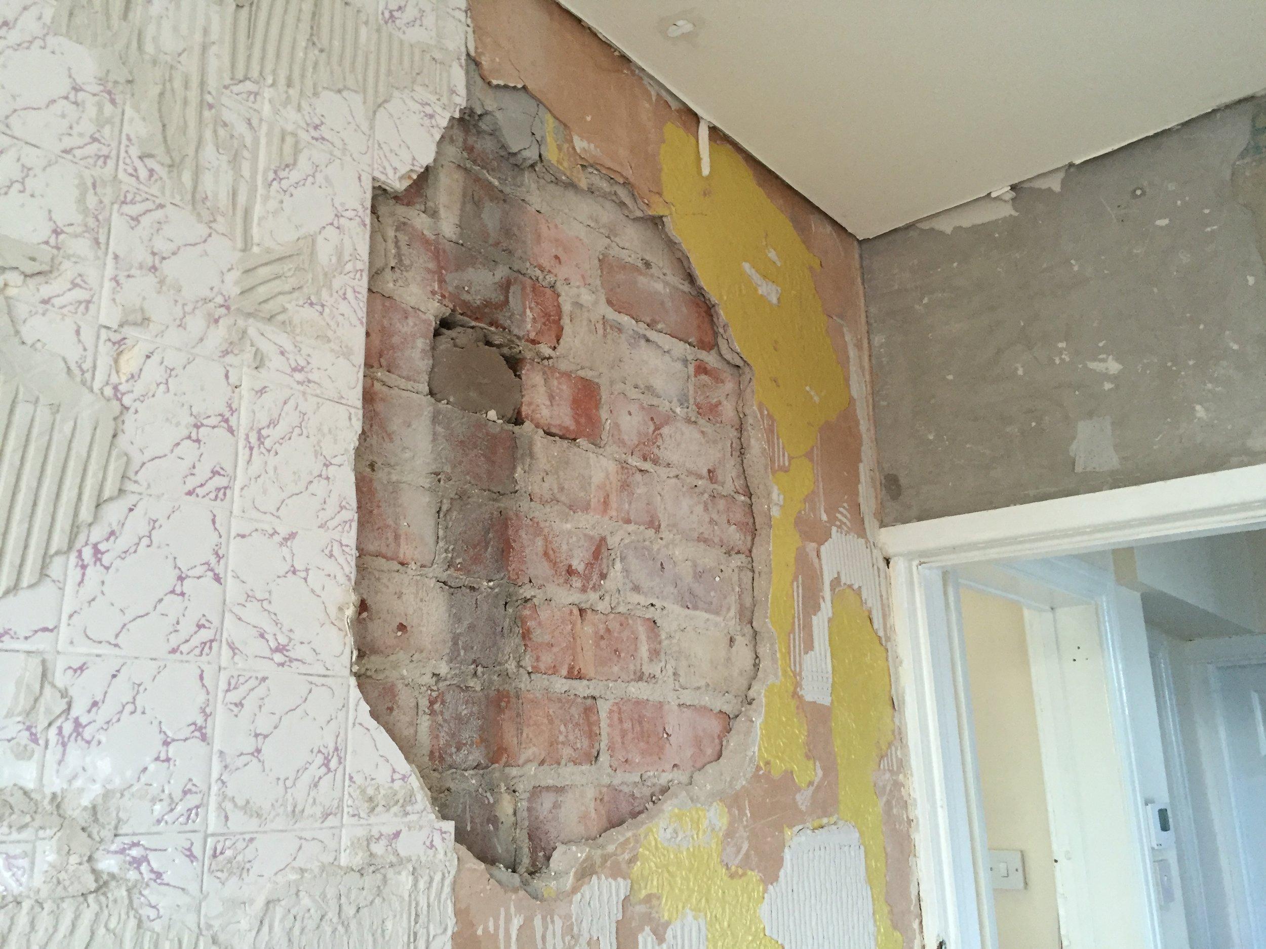 More wall tiles - long past retirement