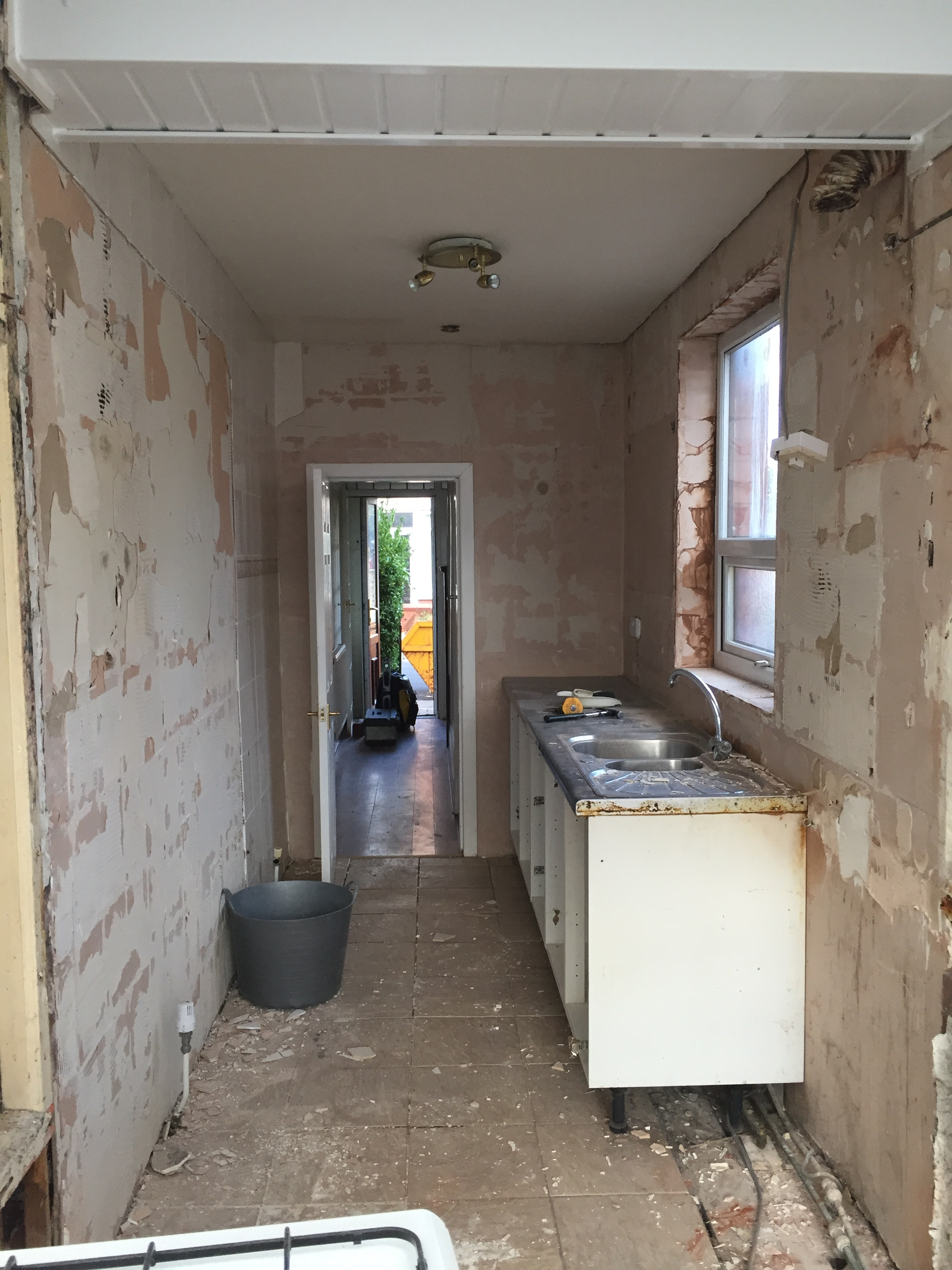 Tiles stripped, units removed