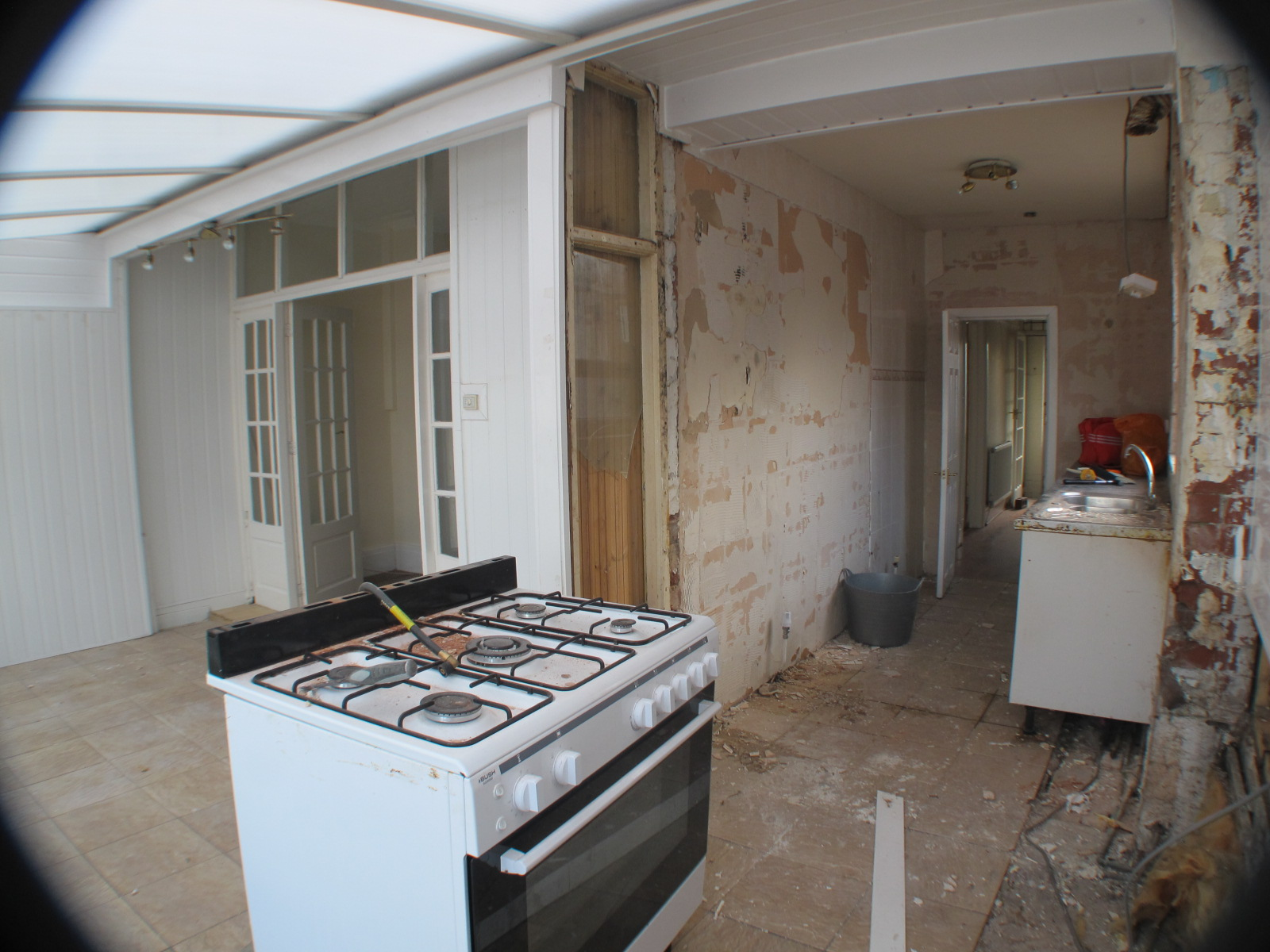 Wide angle kitchen/conservatory