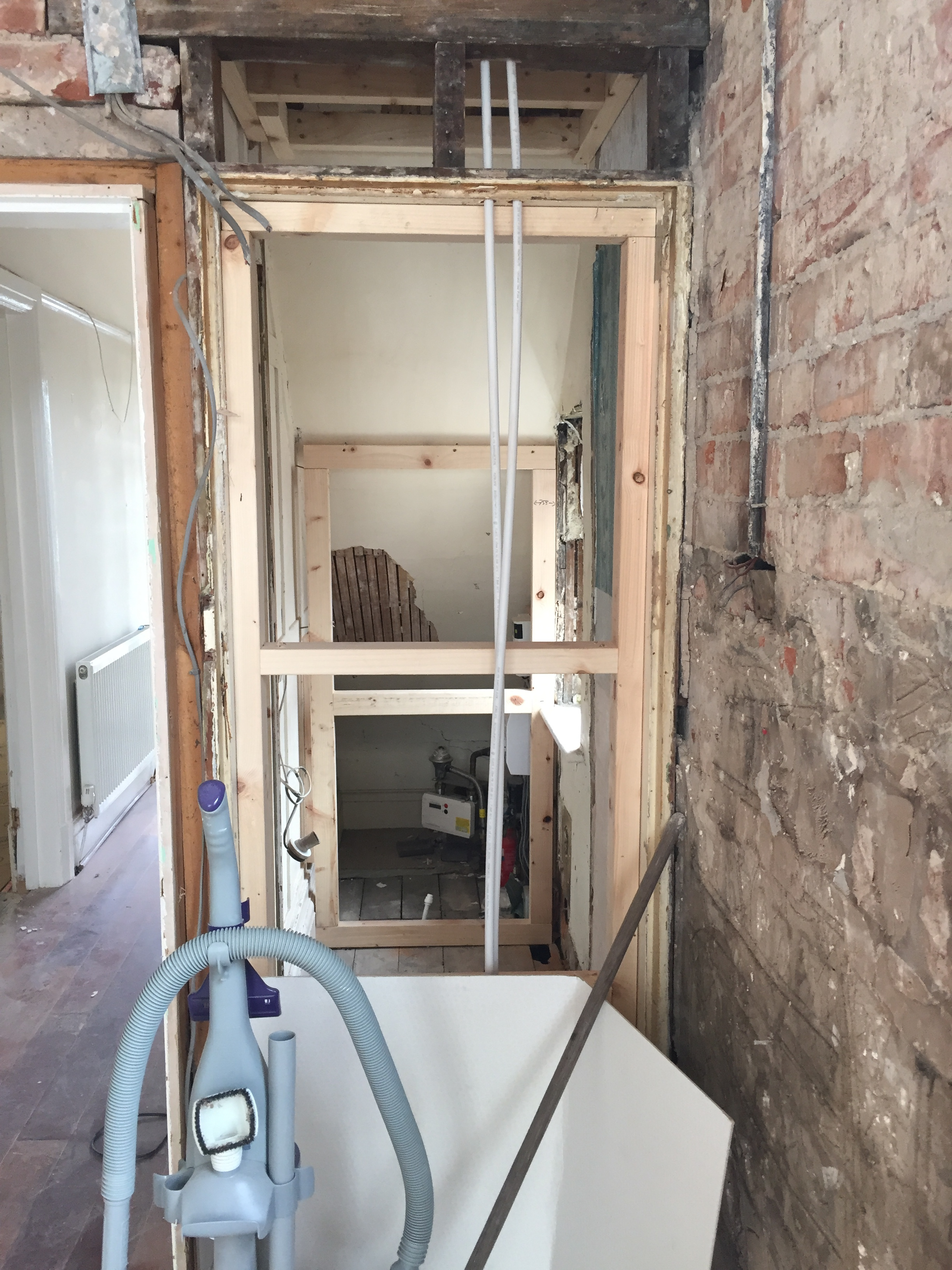Under-stairs cloakroom construction