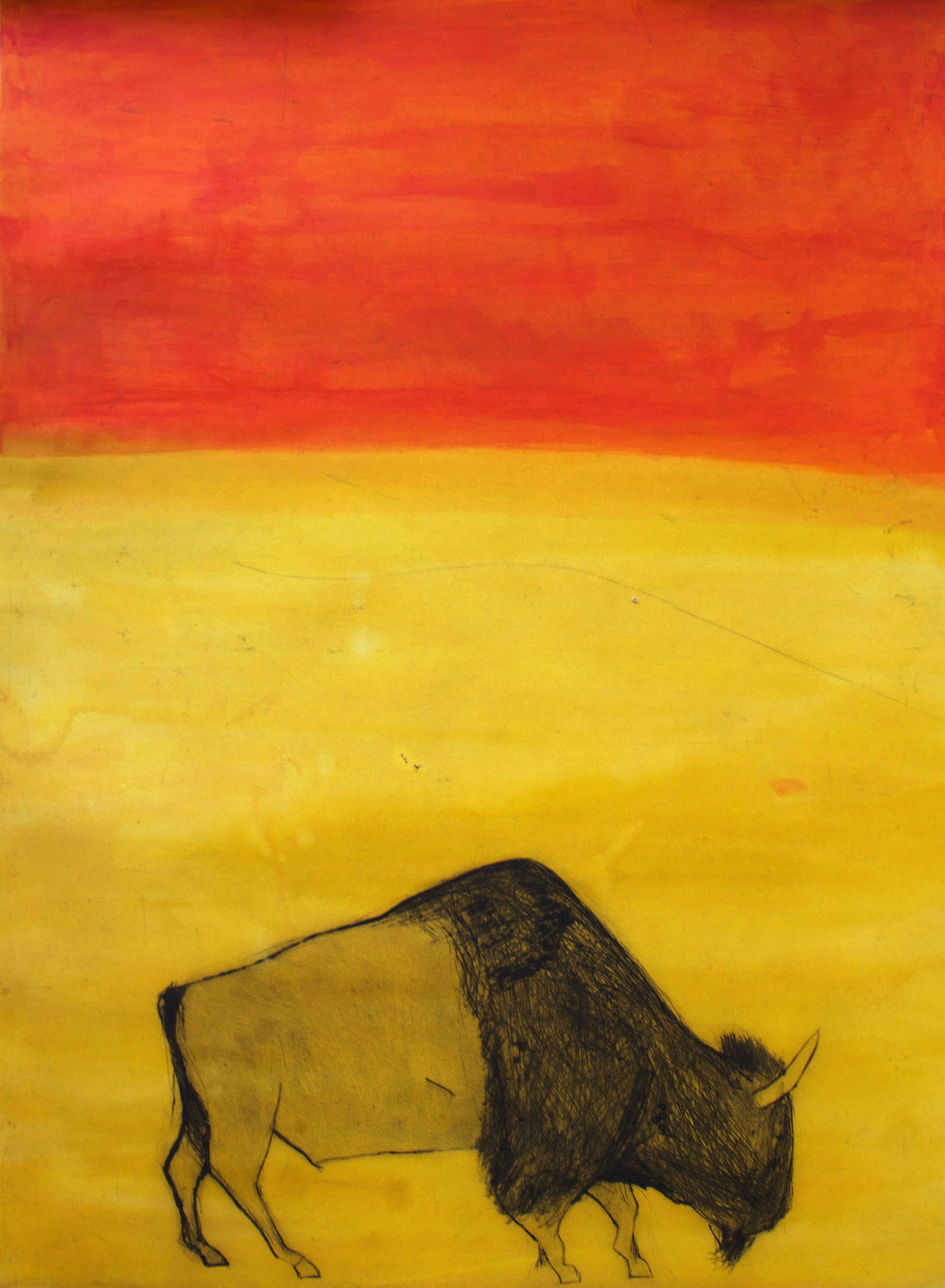 Title: I Feel Like An African Prince Size: 78 x 109 cm Medium: Drypoint, carborundum and chine-colle