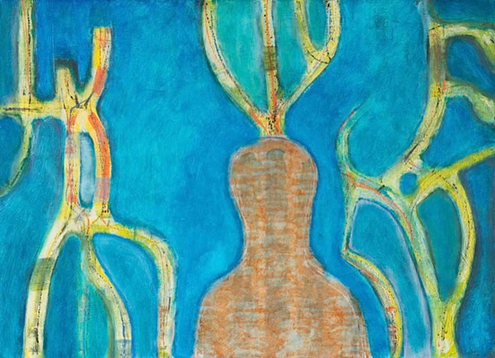 Title: A Man (With Antlers) Size: 89 x 59 cm Medium: Acrylic on canvas