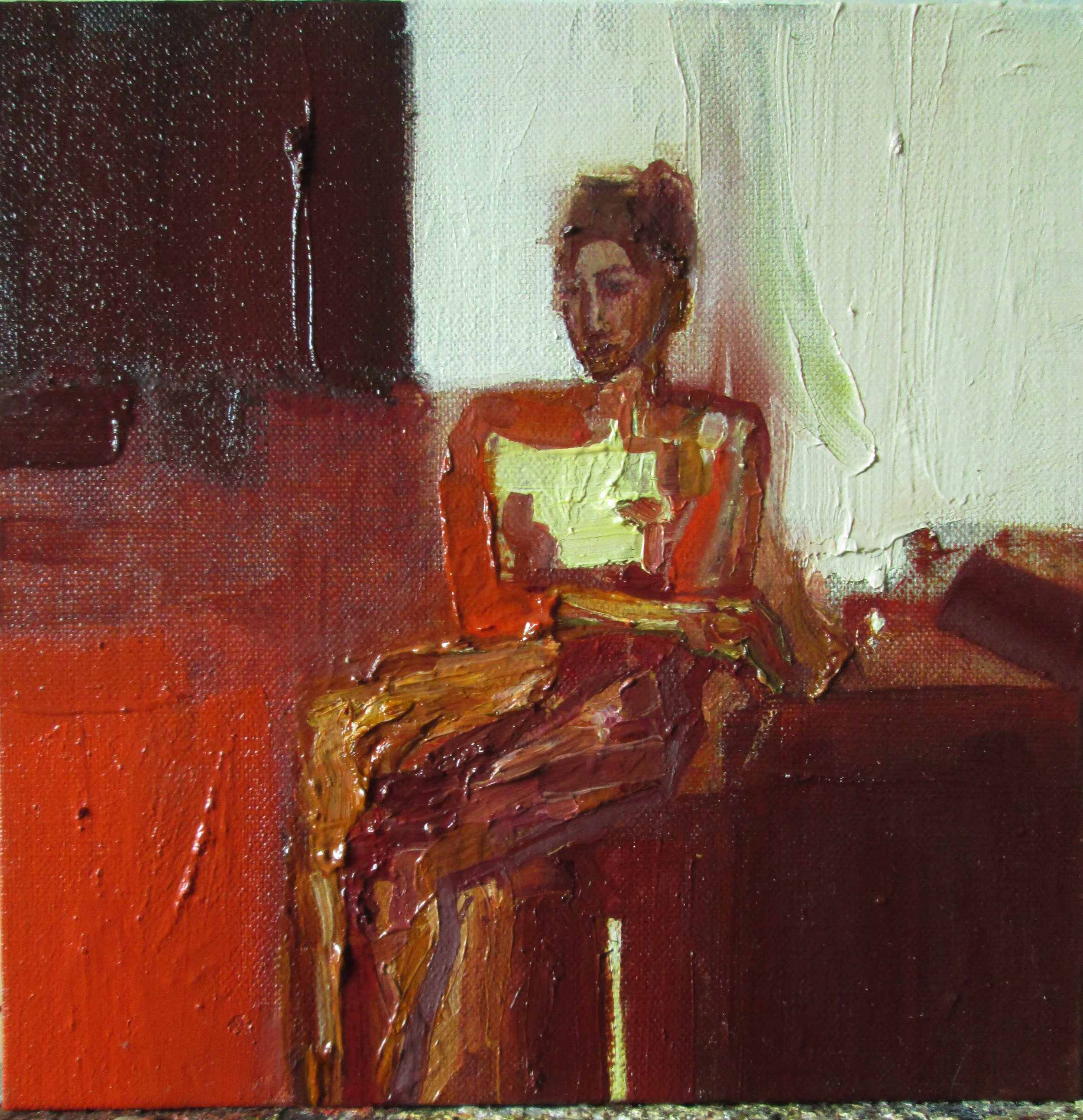 Title: The Two-fold Room Size: 33 x 33 cm Medium: Oil on linen SOLD