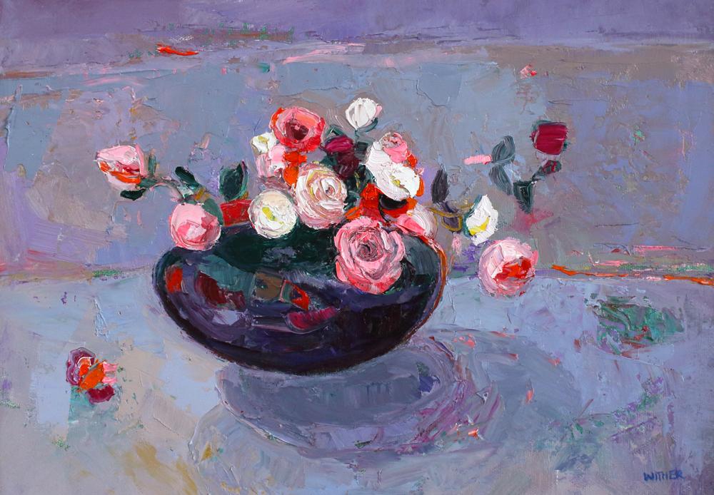 Title: Modern Romance Size: 26 x 36 cm Medium: Oil on canvas  SOLD