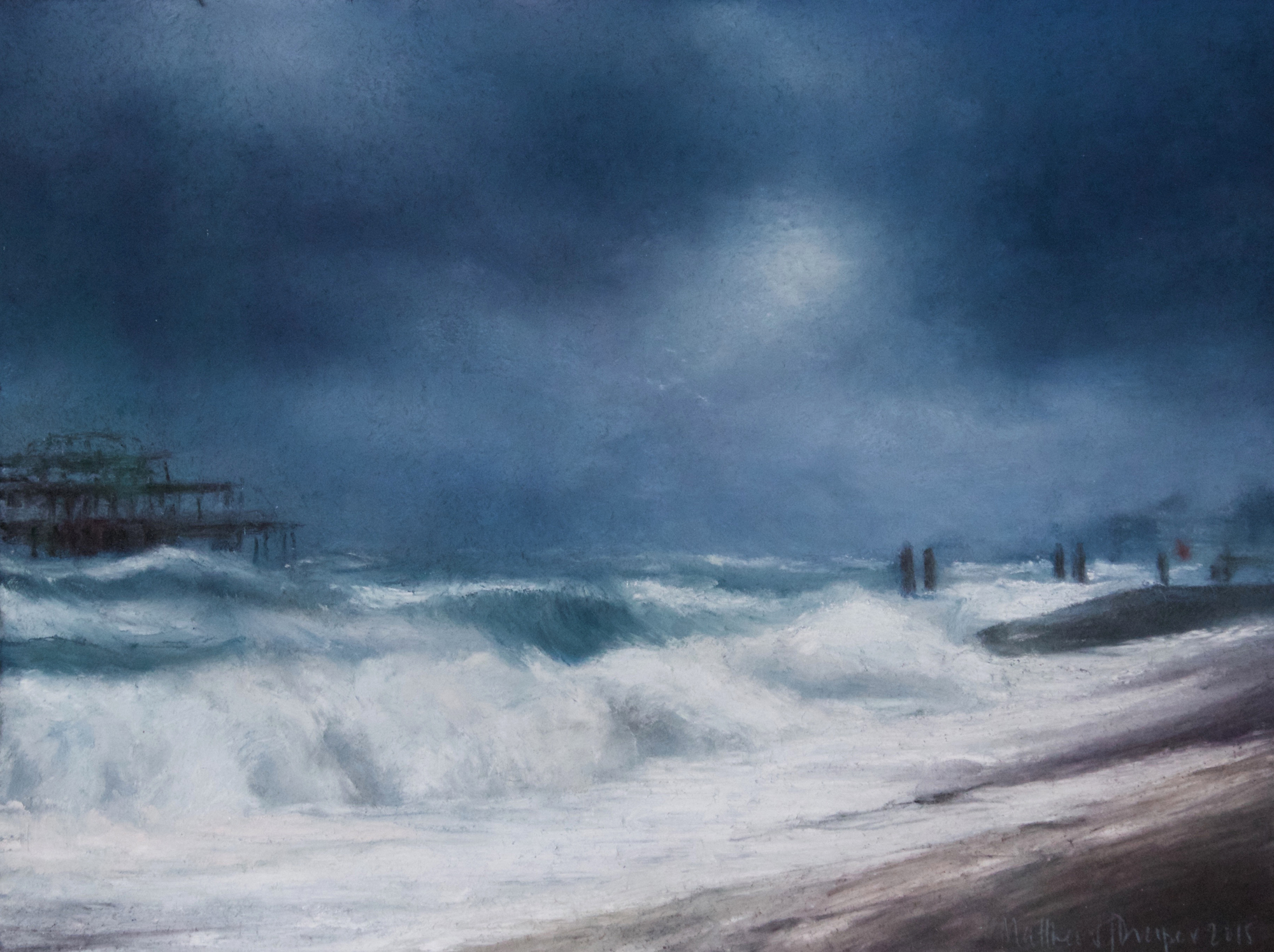 Title: Before the Storm Size: 27 x 36 cm Medium: Pastel SOLD