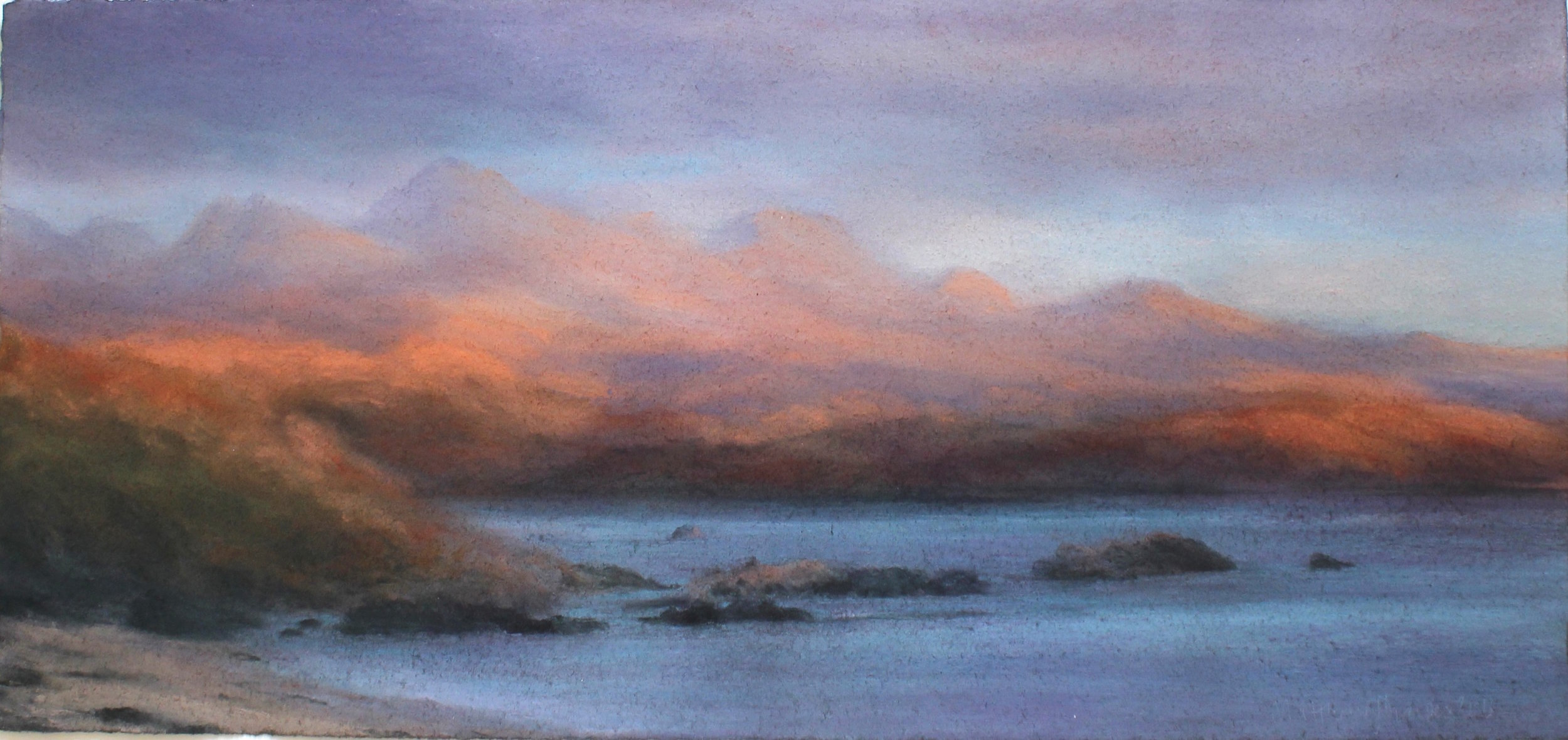 Title: Wester Ross Size: 32 x 68 cm Medium: Pastel