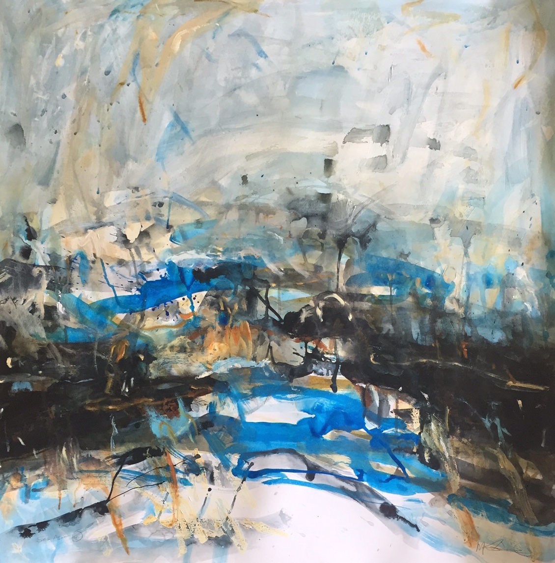 Title: Sea Air 4 Size: 90 x 90 cm Medium: Mixed media SOLD