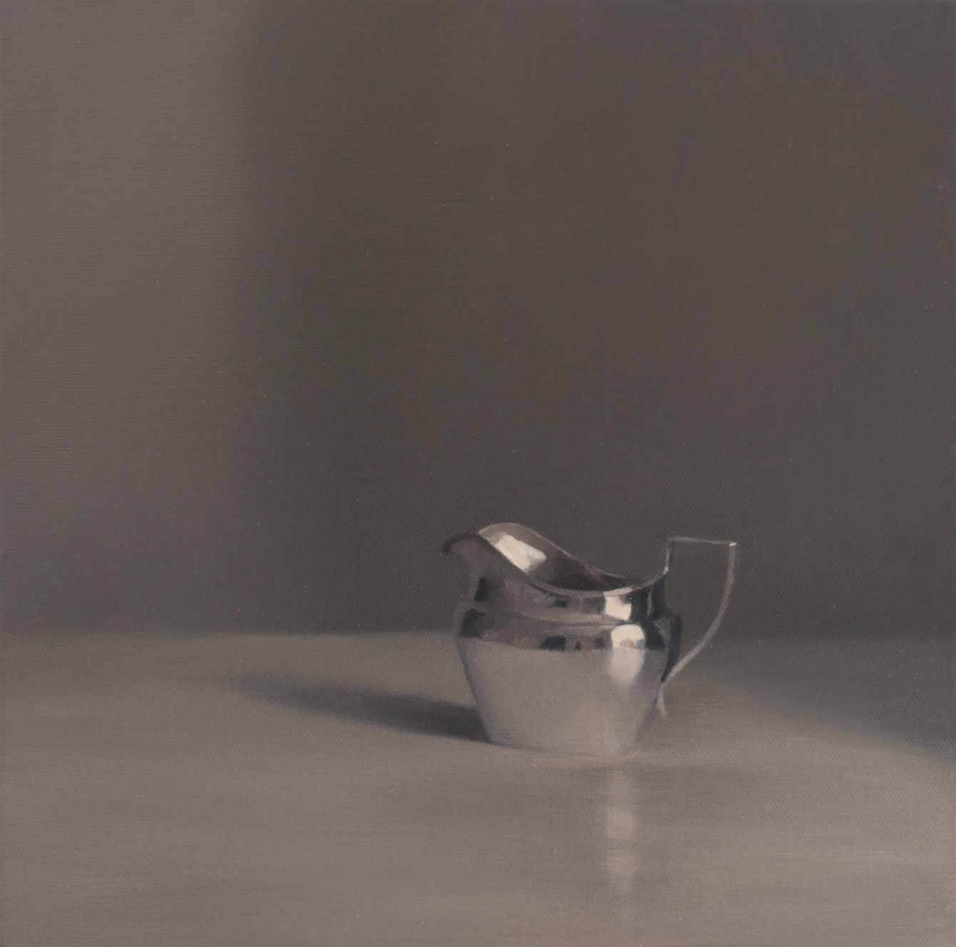 Artist: Harriet Porter  Title: Study Of Small Jug  Medium: Oil on canvas  Size: 32 x 32 cm  SOLD