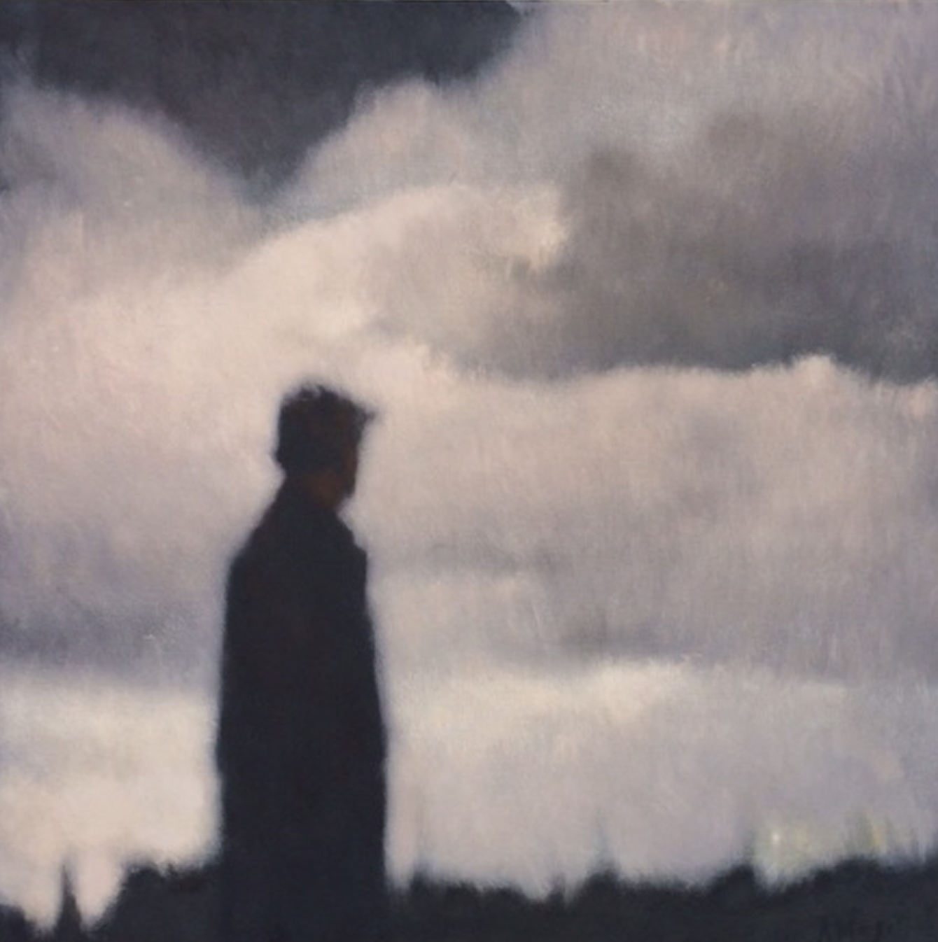Artist: Anne Magill  Title: Dusk  Medium: Acrylic on canvas  Size: 100 x 100 cm  Price: £POA