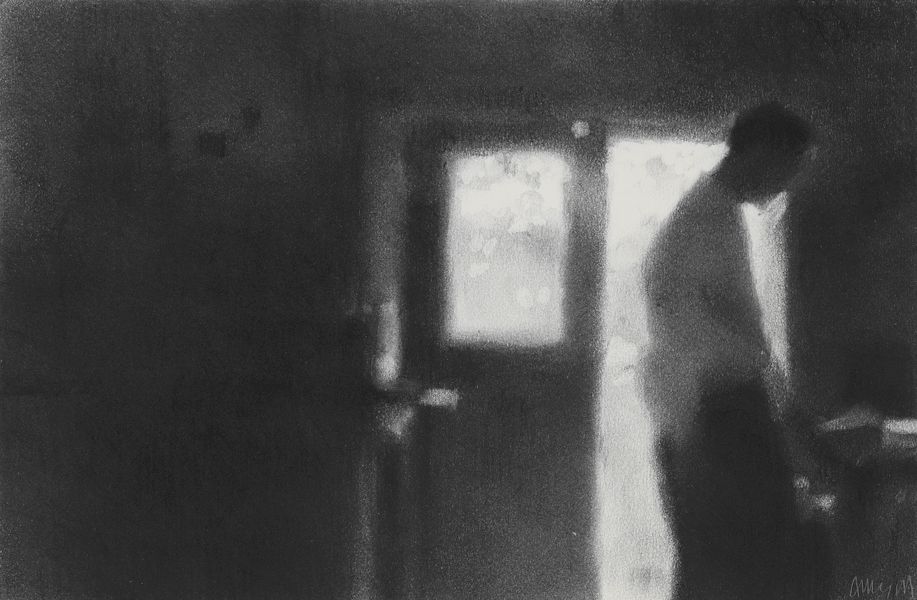Artist: Anne Magill  Title: Morning  Medium: Charcoal on paper  Size: 18 x 28 cm  Price: £3100