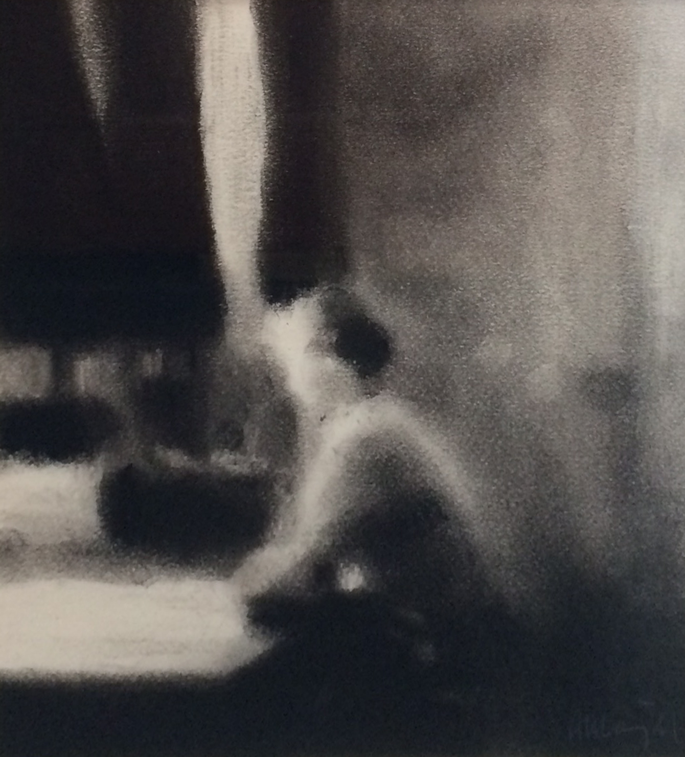Artist: Anne Magill  Title: Sitting  Medium: Charcoal on paper  Size: 19 x 18 cm  Price: £1650