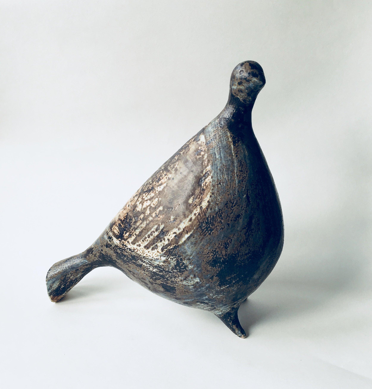Artist: Julie Nelson  Title: Plump Metallic Ponti Bird  Size: H 26cm x W 12cm x L 25cm  Medium: Ceramic  Price: £350