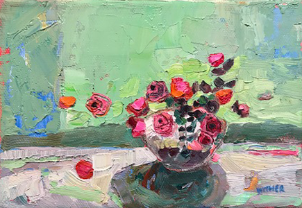 Artist: Kirsty Wither  Title: All Round  Size: 15 x 20 cm  Medium: Oil on canvas  Price: SOLD