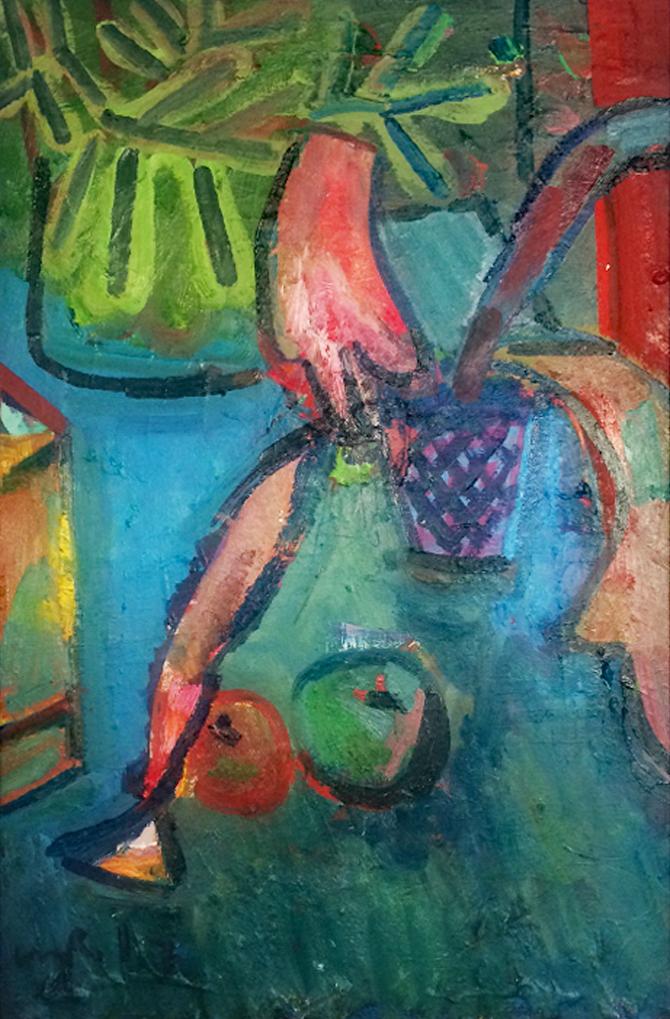 Artist: Luke Hannam  Title: Orchard Apples  Size: 90 x 60 cm  Medium: Oil on canvas  Price: £1750