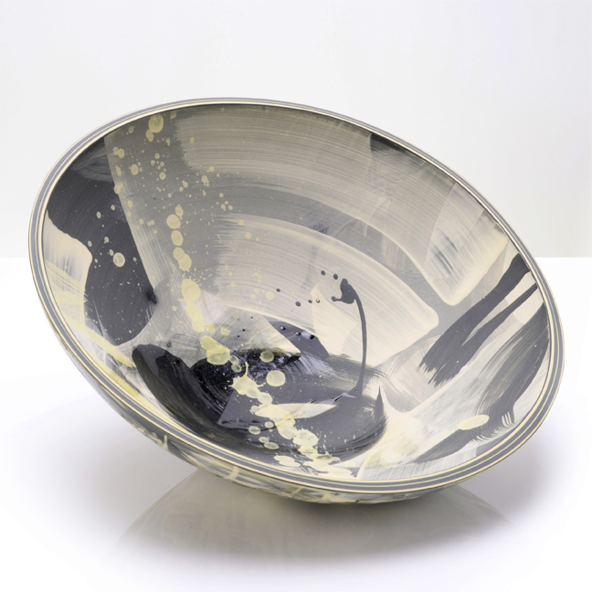 Artist: Rowena Gilbert  Title: Above The Stars - Series 2 Bowl  Size: H 11cm x W 31cm x D 31cm  Medium: Ceramic  Price: £480