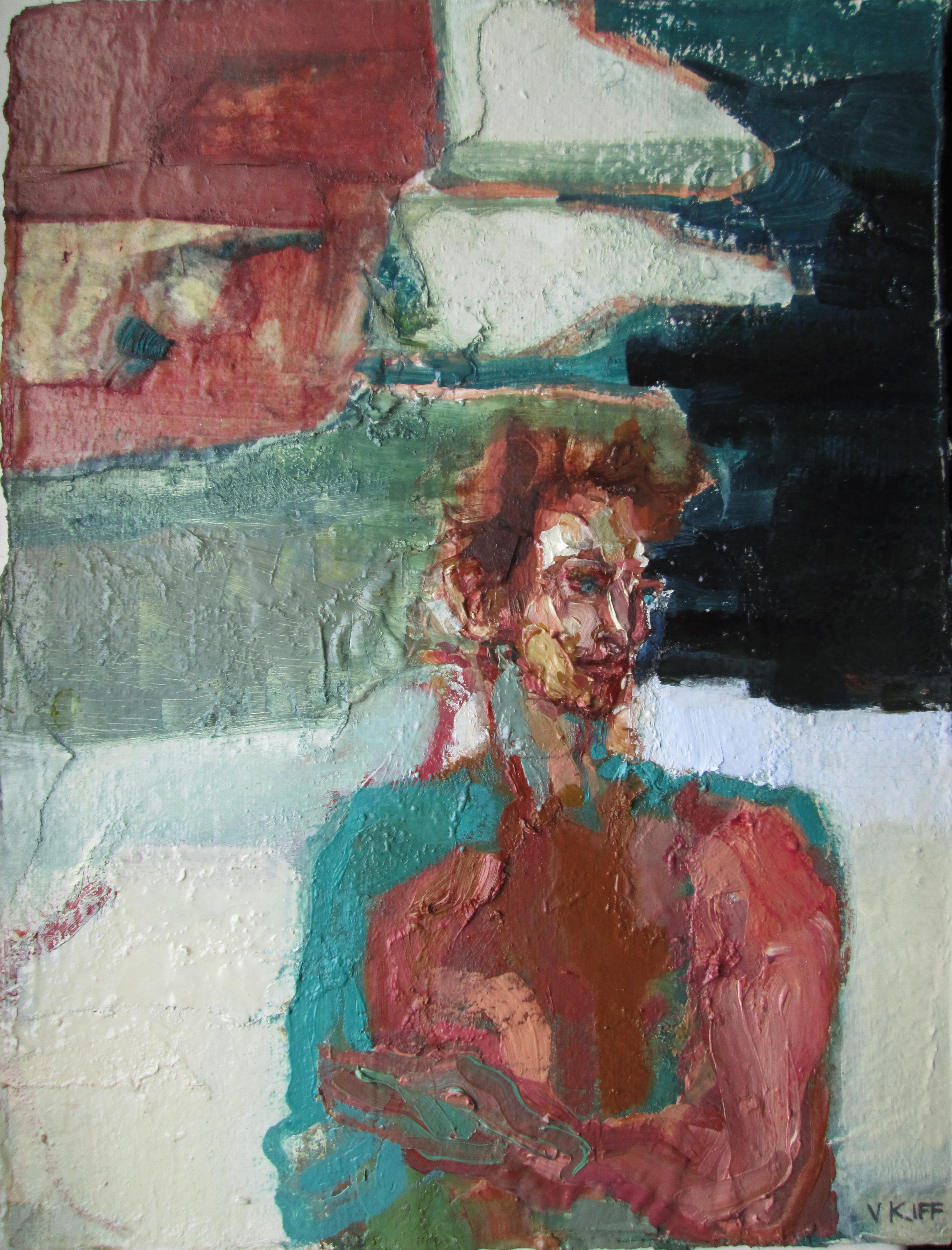 Artist: Victoria Kiff  Title: Nostrum Of The Sea  Size: 54 x 44 cm  Medium: Oil on paper  Price: £825