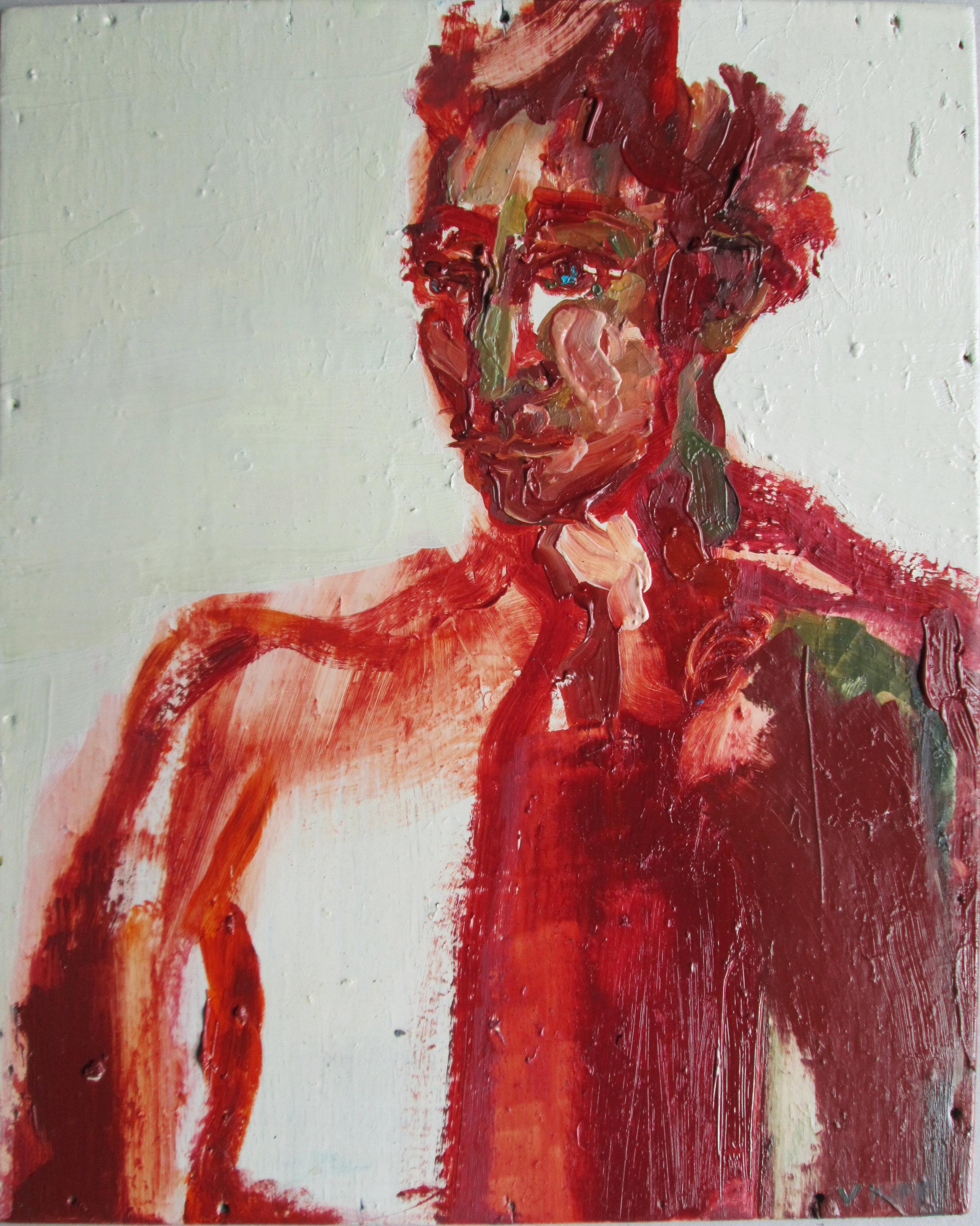 Artist: Victoria Kiff  Title: The Moss Vineyard  Size: 43 x 39 cm  Medium: Oil on wood panel  Price: £700