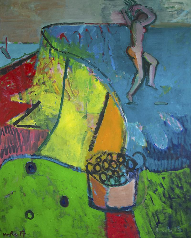 Artist: Luke Hannam  Title: Late Summer Harvest  Size: 220 x 175 cm  Medium: Oil on canvas  Price: £4950