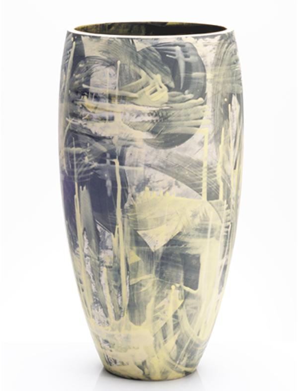 Artist: Rowena Gilbert  Title: Above The Stars - Series 2 Vase  Size: H 37cm x W 17cm x D 17cm  Medium: Ceramic  Price: £480