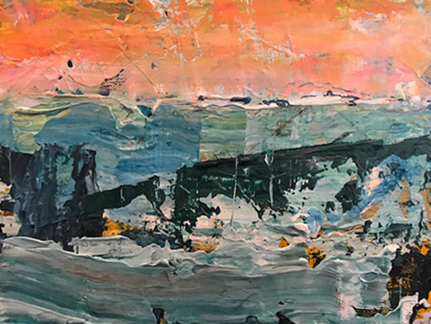 Title: Winter Sky   Size: 12 x 15 cm  Medium: Oil on canvas   Price: £350
