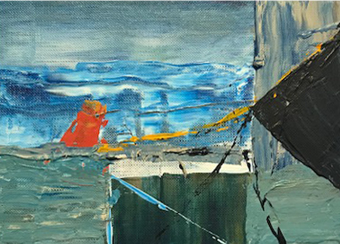 Title: The Harbour  Size: 12 x 15 cm  Medium: Oil on canvas   Price: £350