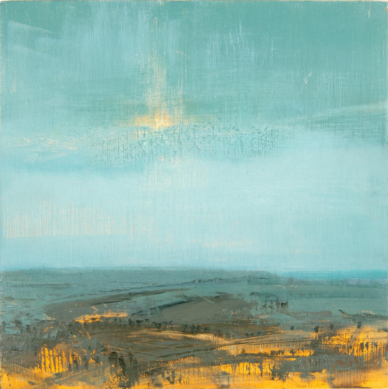 Title: Sussex Landscape Spring VII Size: 40 x 40 cm Medium: Oil on canvas