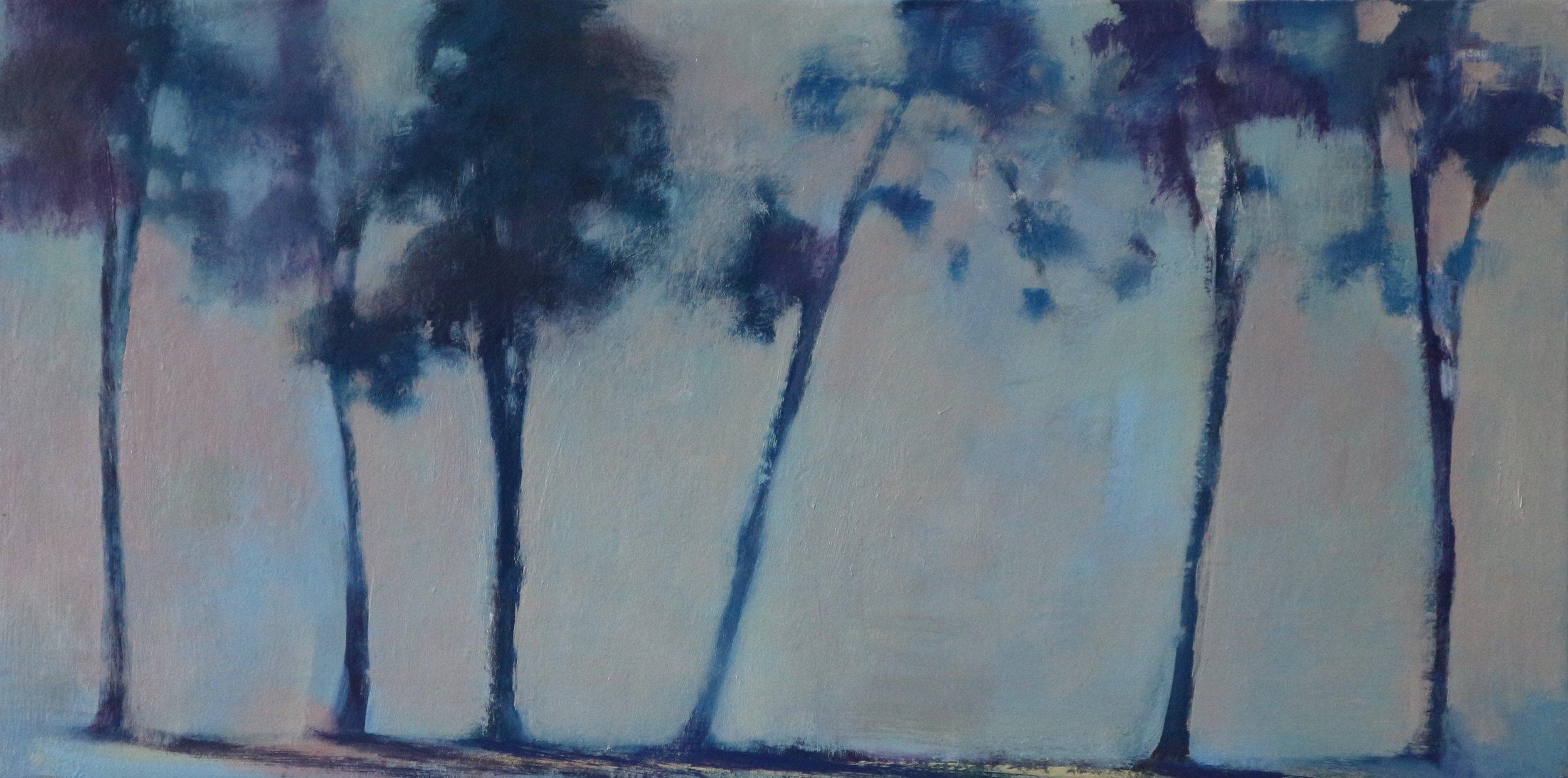 Title: Treeline Study  Size: 30 x 60 cm  Medium: Oil on canvas  Price: £995