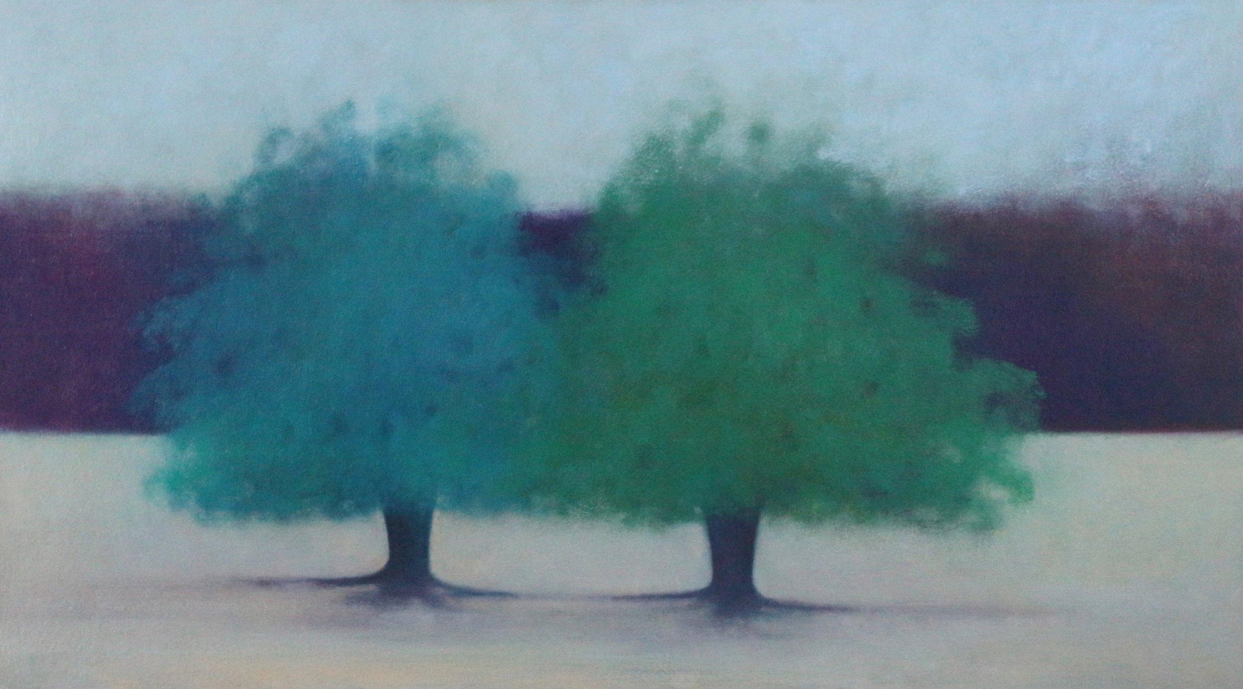 Title: Merged  Size: 76 x 138 cm  Medium: Oil on canvas  Price: £2800