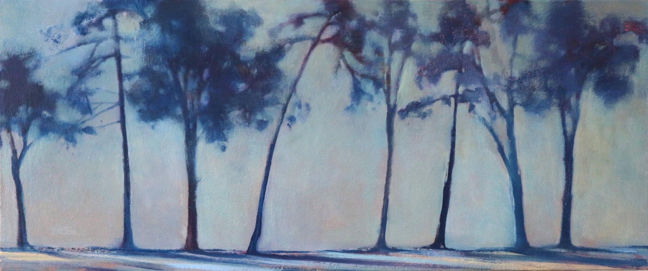 Title: Distant Treeline (I) Size: 50 x 100 cm Medium: Oil on canvas Price: SOLD
