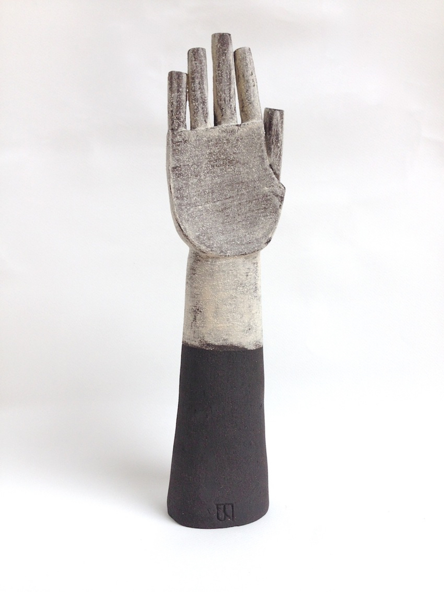 Title: White Glove Size: H 35 x W 12 x D 9 cm Medium: Black stoneware