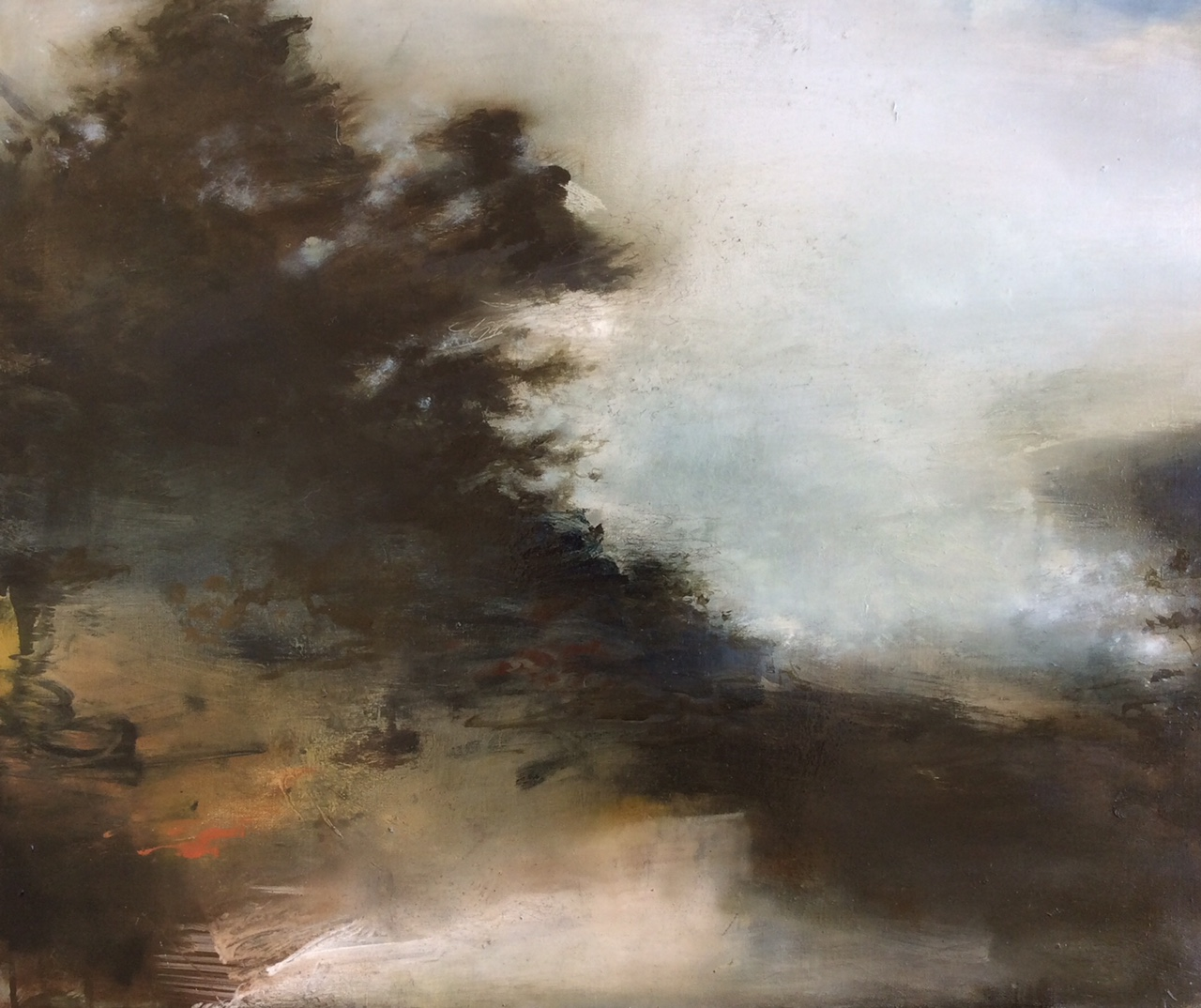 Artist: Linda Felcey  Title: Deluge  Size: 50 x 60 cm  Medium: Oil on linen  Price: £1250