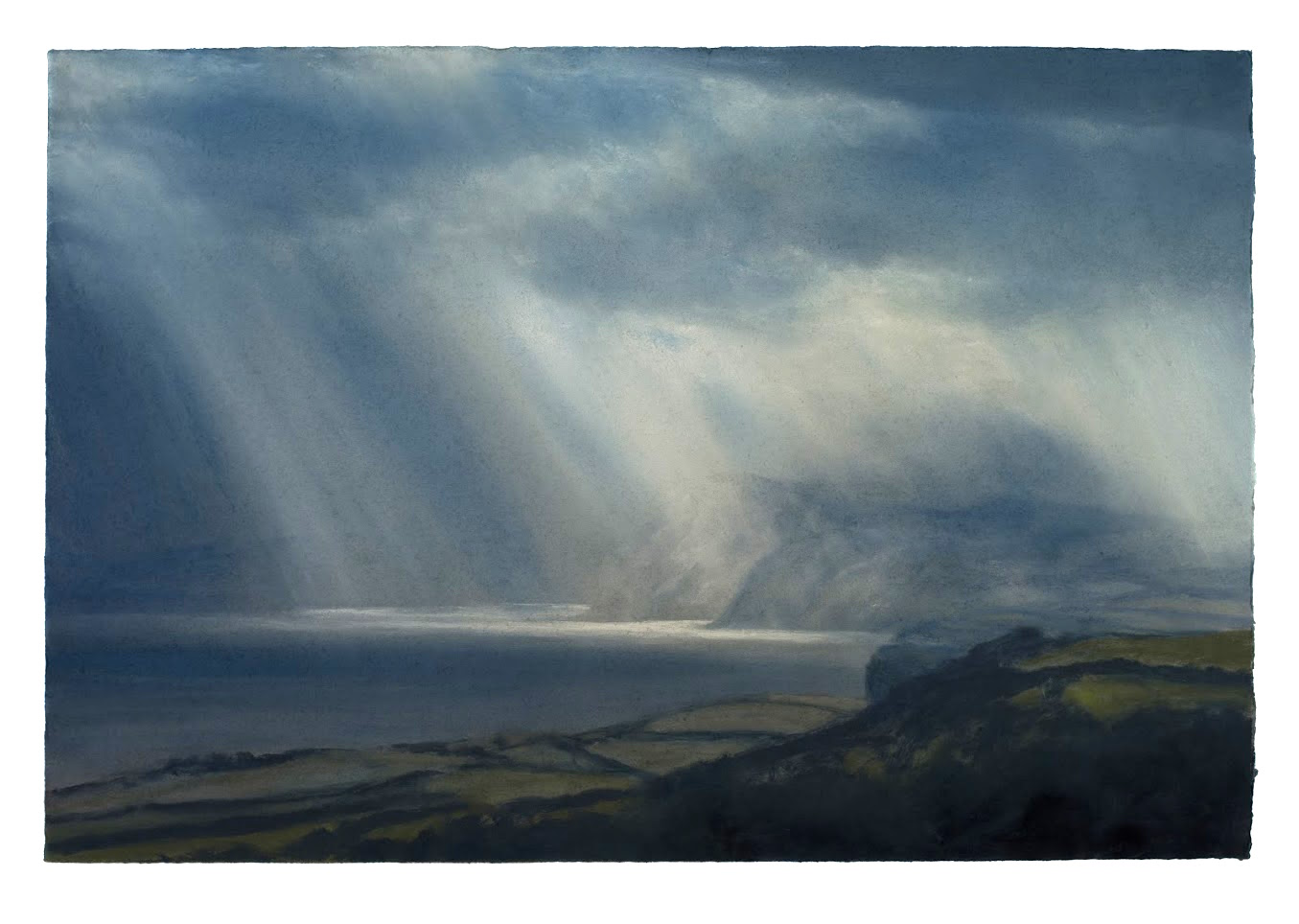 Artist: Matthew Draper  Title: Jurassic Coast no 3  Size: 61.5 x 91.5 cm  Medium: Pastel on paper  Price: £4750