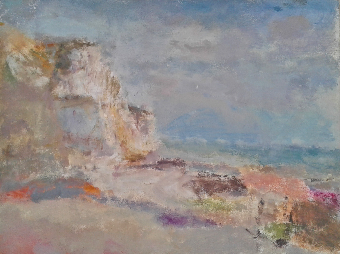 Artist: Anja Niedring  Title: Saltdean Noon  Size: 19.5 x 25 cm  Medium: Oil on panel  Price: SOLD