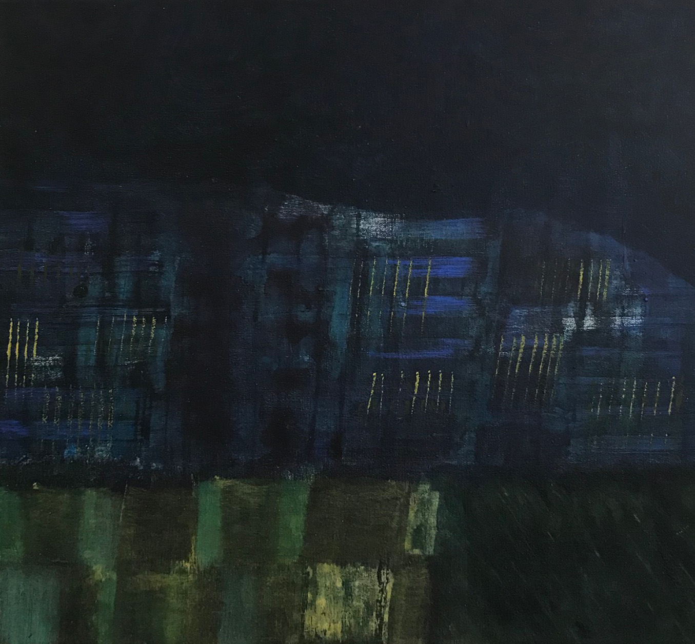 Artist: David Harkins  Title: Night (descending)  Size: 36 x 36 cm  Medium: Acrylic on canvas  Price: £695