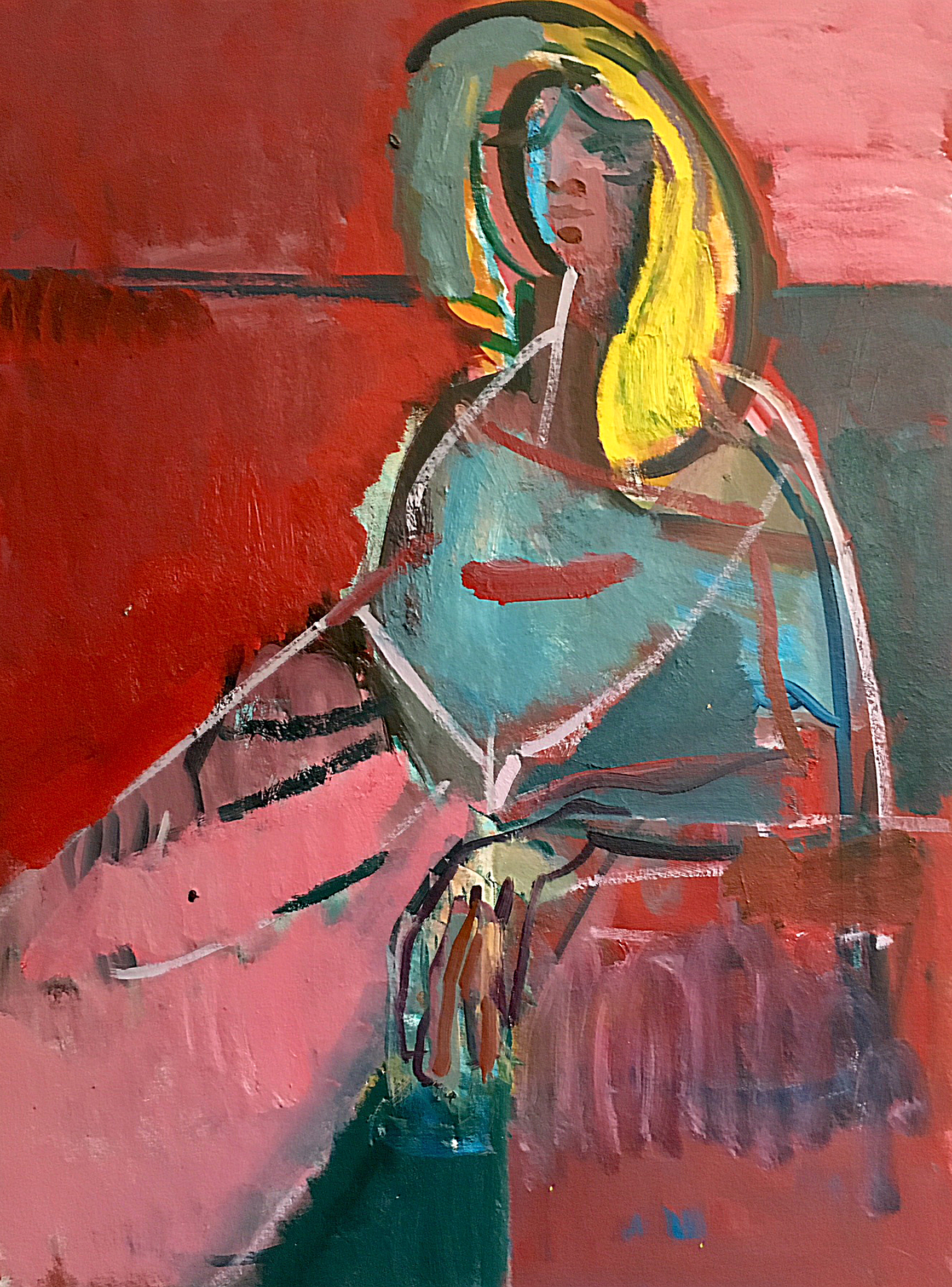Title: Anastasia Reclining  Medium: Oil on canvas  Size: 102 x 76 cm  Price: £2500