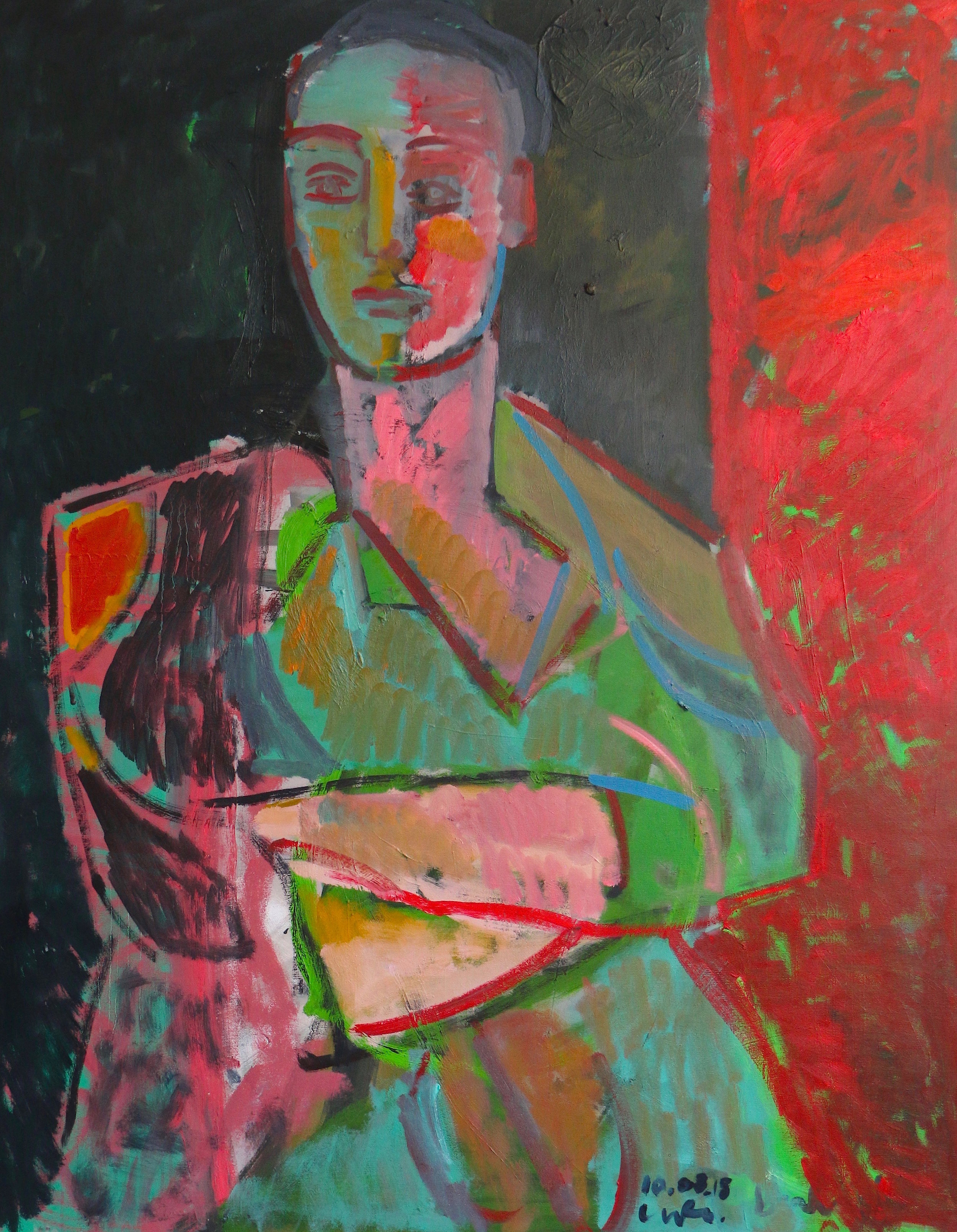 Title: Tess in her Danish Dress  Size: 142 x 102 cm  Medium: Oil on canvas  Price: SOLD