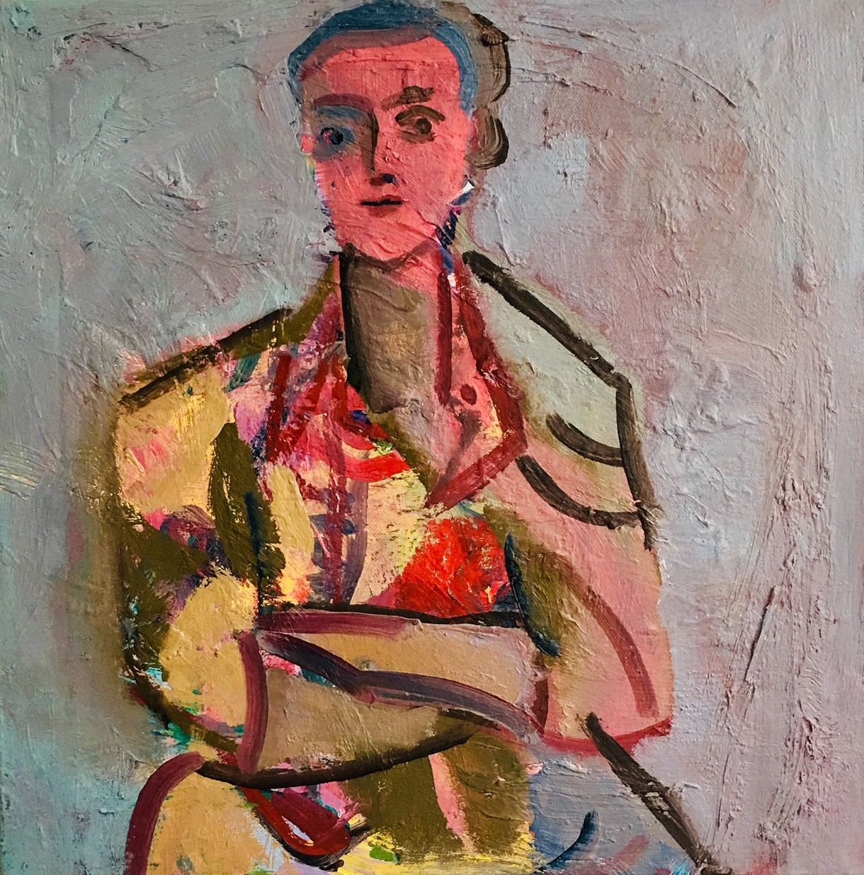 Title: Tess in Her Danish Dress III  Medium: Oil on canvas  Size: 40 x 40  Price: £875