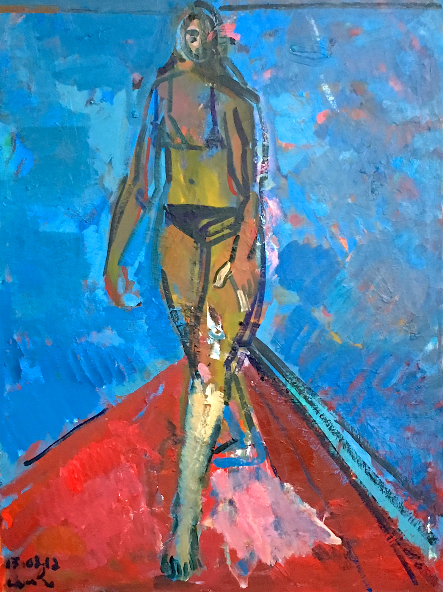 Title: Bather  Size: 123 x 93 cm  Medium: Oil on canvas  Price: £2750