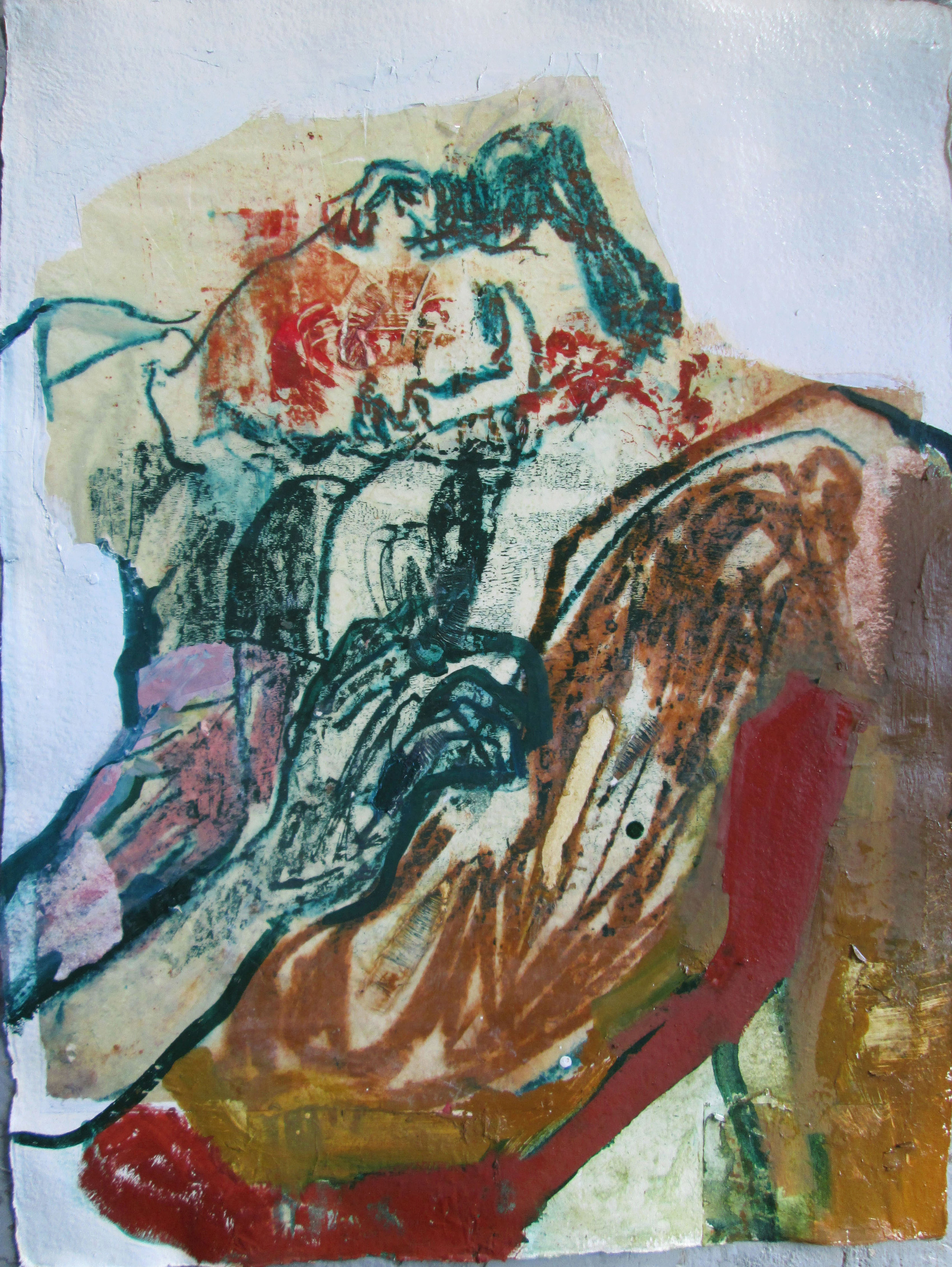 Title: A Burning Lance  Size: 80 x 62 cm  Medium: Oil and pastel on paper  Price:£2200